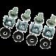 Solarix montážní sada M5, 4ks matice, 4ks šroubky, 4ks plastové podložky, SM5