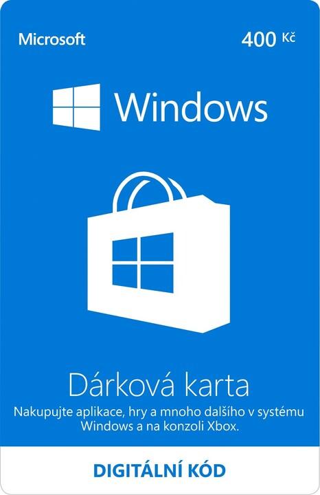 Microsoft Windows Store Gift Card 400CZK - elektronicky