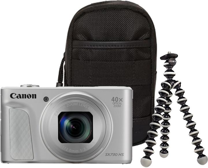 Canon PowerShot SX730 HS, stříbrná - Travel kit