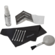 Polaroid 5 produktů (mikroutěrka, papírky, tyčinky, balónek se štětečkem, kapalina)