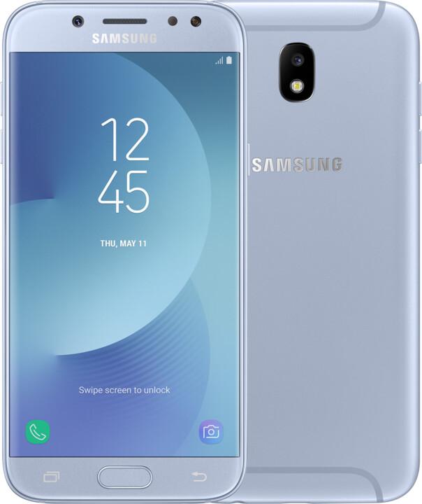 Samsung Galaxy J5 2017, Dual Sim, LTE, stříbrná