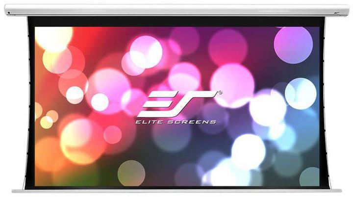 """Elite Screens plátno elektrické motorové 120"""" (305 cm)/ 16:9/149,6 x 265,7 cm/hliníkový case bílý"""