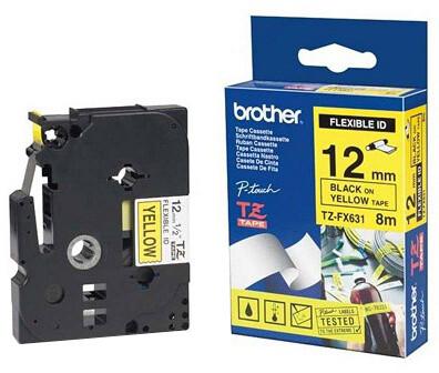 Brother TZE-FX651, žlutá/černá, 24mm