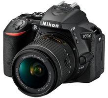 Nikon D5500 + AF-P 18-55 VR + 70-300 VR, černá - VBA440K019