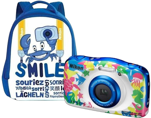 Nikon Coolpix W100, marine + Backpack kit