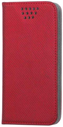 """Forever knížkové pouzdro (smartcase) typ b magnet univerzální 4,5-5,0"""" - červené"""