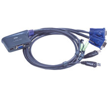 ATEN 2-port KVM USB mini, audio, 1,8m - 4710423770478