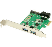 AXAGON - PCEU-232R PCIe adapter 2+2x USB3.0 Renesas + LP