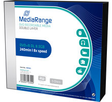MediaRange DVD+R 8,5GB DL 8x, 5ks Slimcase - MR465