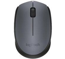 Logitech Wireless Mouse M170, šedá - 910-004642