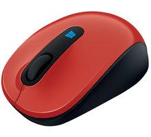Microsoft Sculpt Mobile Mouse, červená - 43U-00026