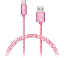 CONNECT IT Wirez Premium Metallic USB C - USB, rose gold, 1 m - CI-667