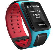 TOMTOM Runner 2 Cardio + Music (velikost L), modrá/červená - 1RFM.001.00