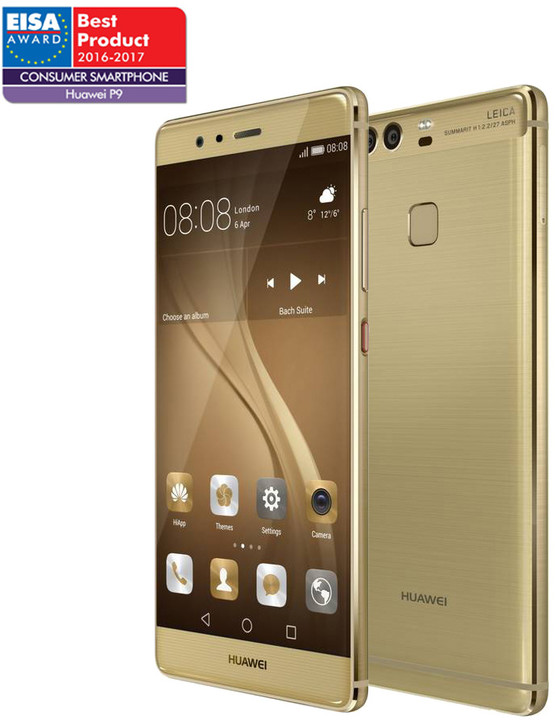 Huawei P9, Dual Sim, zlatá