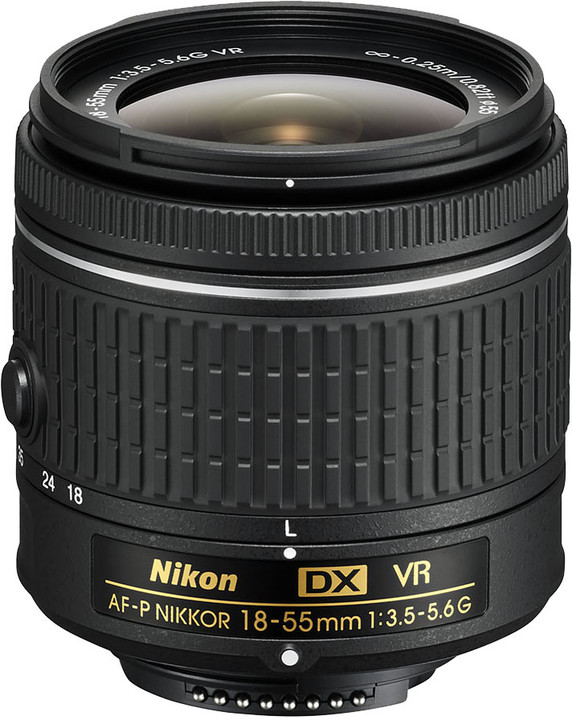 Nikon objektiv Nikkor 18-55mm f/3.5-5.6G EDII (3,0x) AF-P VR DX