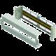"""Solarix instalační panel 3U s DIN lištou do 19"""" rozvaděče, RAL 7035"""