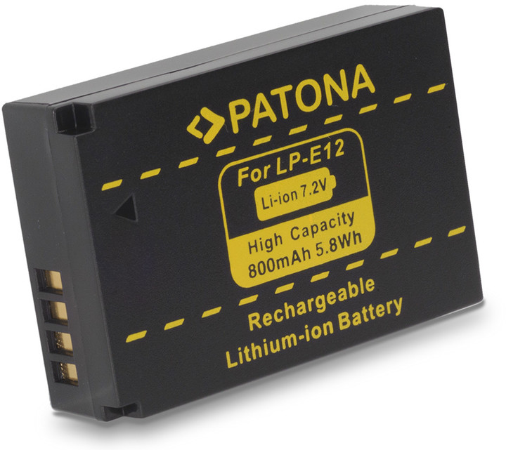 Patona baterie pro Canon LPE12 800mAh Li-Ion 7,2V