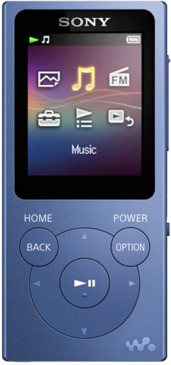 Sony NWZ-E393, 4GB, modrá