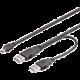 PremiumCord USB 2.0 napájecí Y kabel A/M -- A/M + A/M mini 0.5m + 0.4m