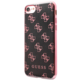 Guess 4G 2017 Soft Pouzdro Black/Pink Metal pro iPhone 7
