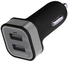 Emos napájecí zdroj USB CL duální 2x 2.1A, do auta - V0222