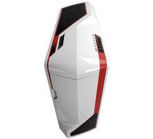 NZXT Phantom, bílá s červenými pruhy - PHAN-003RD