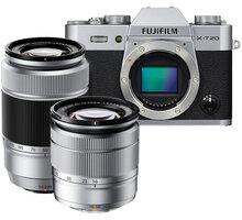 Fujifilm X-T20 + XC 16-50mm + XC 50-230mm, stříbrná - 16543200
