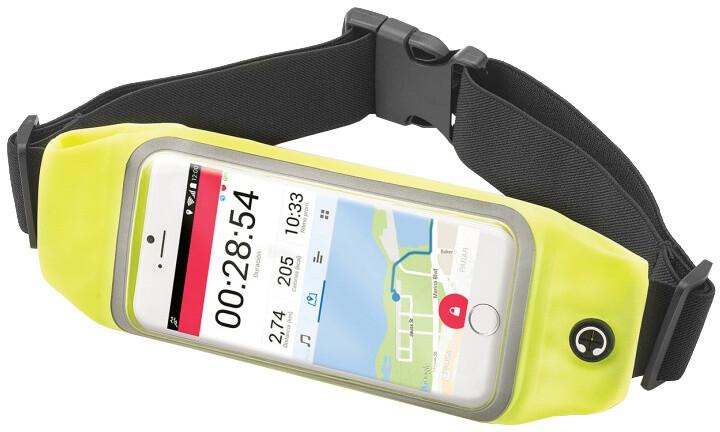 """CELLY RunBelt View, pouzdro pro telefony do 4.7"""", žluté"""