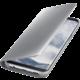 Samsung S8 Flipové pouzdro Clear View se stojánkem, stříbrná