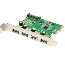 AXAGON PCIe adapter 4x USB3.0 Renesas - PCEU-430R