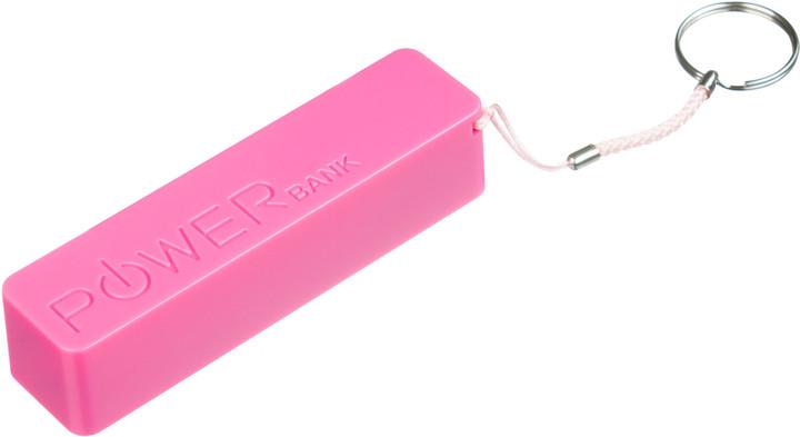 CONNECT IT COLORZ powerbank 2600 mAh, 1A, růžový