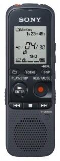 Sony diktafon ICDPX333, 4GB, černá