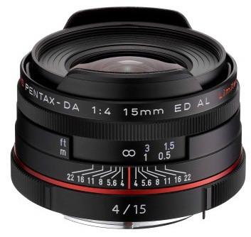 Pentax objektiv DA 15mm F4 ED AL, černá