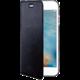CELLY Air ultra tenké pouzdro typu kniha pro Apple iPhone 7 Plus, PU kůže, černé