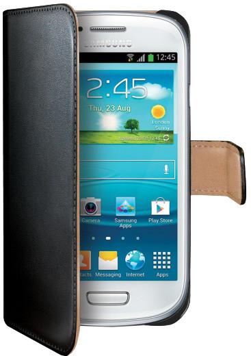 CELLY Wally pro Samsung Galaxy S III mini, PU kůže, černá