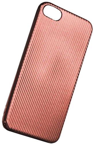 Forever silikonové (TPU) pouzdro pro Apple iPhone 5/5S, carbon/růžová/zlatá
