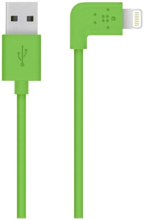 Belkin Mixit s Lightning konektorem, 90°, 1.2m, zelená
