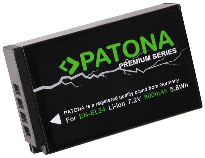 Patona baterie pro foto Nikon EN-EL24 800mAh Li-Ion Premium
