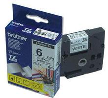 Brother páska - TZ-211, bílá / černá (6mm, laminovaná) - TZE211