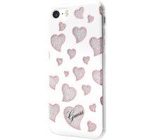Guess Hearts TPU Pouzdro White pro iPhone 5S/SE - GUHCPSEGLHWH
