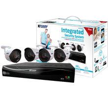 KGUARD set EL831 8-kanálový rekordér DVR 720P FULL HD + 4x 720P barevná venkovní kamera WA713A - EL831-4WA713A