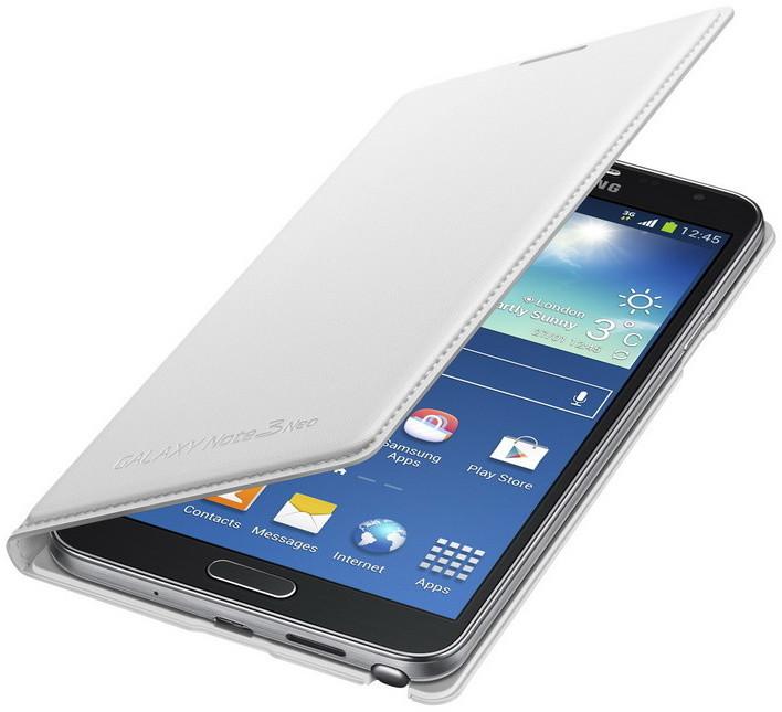 Samsung EF-WN750BW flip Wallet Note 3 Neo, bílá
