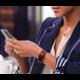 Fitbit Charge 2 Accessory Band kožený L, hnědá
