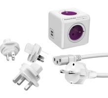 PowerCube Rewirable USB + Travel Plugs + IEC kabel - REWIRABLE USB + TP + IEC
