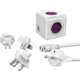 PowerCube Rewirable USB + Travel Plugs + IEC kabel