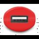 CONNECT IT InCarz COLORZ auto adaptér 1xUSB 2,1A,červená (V2)