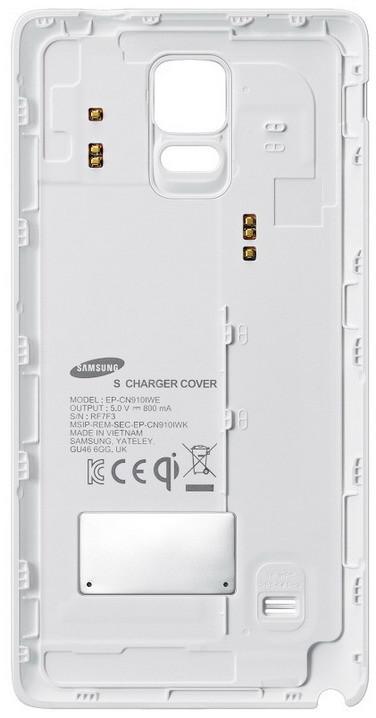 Samsung zadní kryt pro bezdrátové nabíjení EP-CN910I pro Galaxy Note 4, bílá