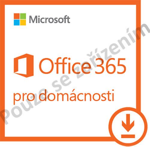 Microsoft Office 365 pro domácnosti - 1 rok až 5 PC/Mac - pouze se zařízením - elektronická