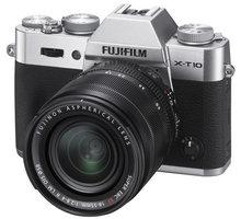 Fujifilm X-T10 + XF18-55mm, stříbrná - 16471457