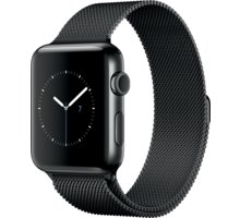 Apple Watch 2 42mm Space Black Stainless Steel Case with Space Black Milanese Loop - MNQ12CN/A